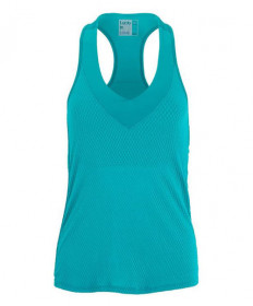 Lucky In Love Wavy V-Neck Tank-Teal CT644-308
