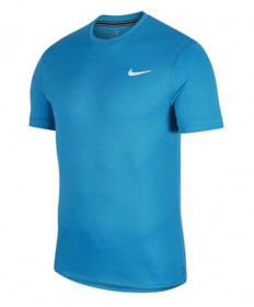 Nike Men's Court Dry Short Sleeve Colorblock Top-Neo Turquoise 939134-425