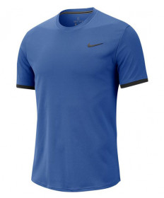 Nike Men's Court Dry Short Sleeve Colorblock Top-Game Royal 939134-480
