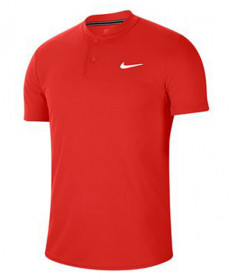 Nike Men's Court Dry Blade Polo- Habanero Red AQ7732-636