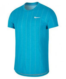 Nike Men's Court Challenger Short Sleeve Top-Neo Turquoise CI9146-425