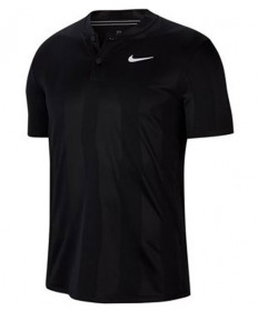 Nike Men's Court Dry Print Blade Polo-Black  CK9791-010