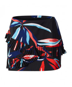 Tail Pleated Printed Skirt Palm Springs 13.5in