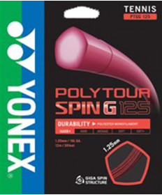 Yonex Poly Tour Spin G 1.25 String Orange PTGG125OR