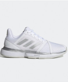 Adidas Women's CourtJam Bounce Shoes WIDE White/Silver EE6162