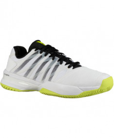 K-Swiss Men's Ultrashot 2 Shoes White / Black / Neon Yellow 06168-124