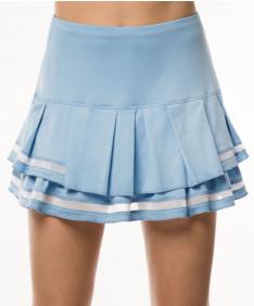 Lucky in Love Celestial Geo Mesh Pleat Tier 14 Inch Skirt Blue Bell CB370-455