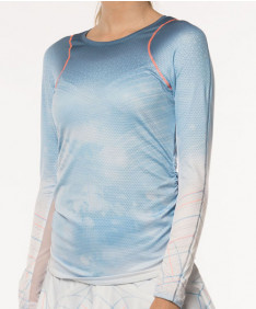 Lucky in Love Celestial Geo Long Sleeve Top Blue Bell CT474-810455