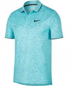 Nike Men's Court Dry Print Polo Light Aqua AT4148-434