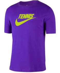 Nike Men's Court Dri FIT Tennis Tee T-Shirt Court Purple CJ0429-547