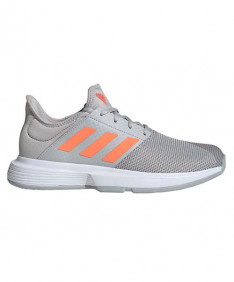 Adidas Women's Game Court Shoes Grey/Signal Coral EG2015