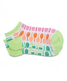 Ame & LuLu Meet Your Match Socks- Rainbow Racquets- SOCKS145