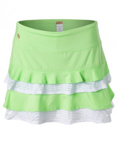 Cross Court Flounce Skirt-Melon-White 8657-9232