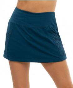 Lucky in Love Pretty in Ink Long Baller Skirt- Indigo CB505-402
