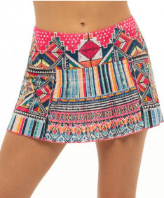Lucky in Love Pretty in Ink Around the Block Skirt-Shock Pink Skirt-CB514-G44645