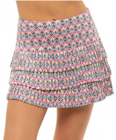 Lucky in Love Pretty in Ink Long Diamond Pleat Skirt-Shock Pk Print-CB543-G45645