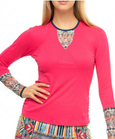 Lucky in Love Pretty In Ink Think Ink Longsleeve-Shocking Pink-CT803-G90645