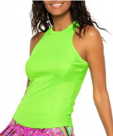 Lucky In Love Women's Love Rib Tank-Lime CT709-334