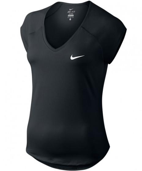 dae2204b46ea1 Nike Women s Pure Tennis Top Black 728757-010