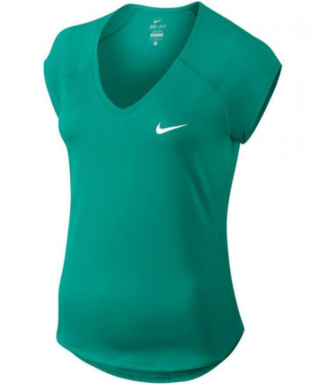 82e25977118f2 Nike Women s Pure Tennis Top Neptune Green 728757-370