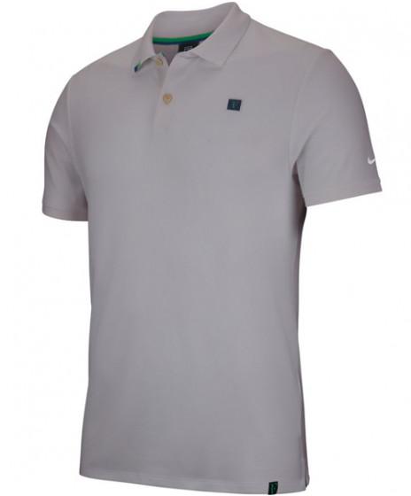 a596e66875384 Nike Men's Court RF Roger Federer Essential Polo Light Silver AH6762-025