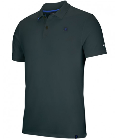 dddb2c4d Nike Men's Court RF Roger Federer Essential Polo Midnight Spruce AH6762-372