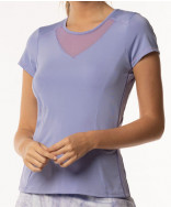 Lucky in Love Lilac It A Lot Short Sleeve Crew Top Lilac CT269-515